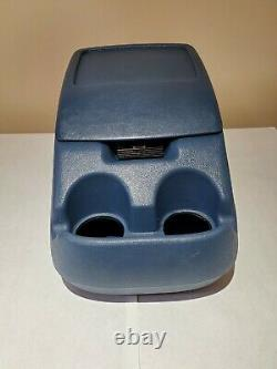 1992-1996 Ford F150 Center Console Dual Cup Holder Storage Case Blue