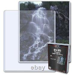 1/2 Case 125 BCW 8 x 10 Photo Topload Holders Storage Protection