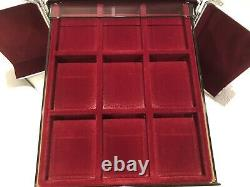 1 Aluminum Storage Box Case For Lighthouse Coin With 6 Slab Trays For PCGS & NGC