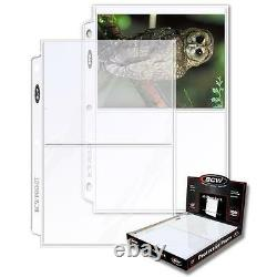 1 Case of 1000 BCW 2 Pocket Pages Photo Storage Holders