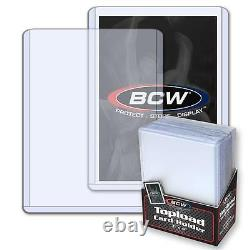 1 Case of 1000 BCW Brand 3 x 4 Topload Standard Economy Card Storage Holders
