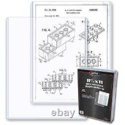 1 Case of 250 BCW 8.5 x 11 Photo Topload Holders Storage Protection