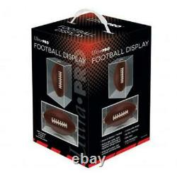1 Case of 6 Ultra Pro Football Holders Display Cases Storage Protection