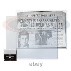 1 case 1000 BCW Newspaper Bags Storage Holder Protection 13 3/8 X 11 7/8