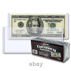 1 case of 500 BCW 6.5 x 3 Currency Dollar Bill Topload Holder Storage Protection
