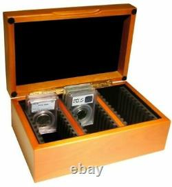 2 Storage Wood Box's For 30 Certified Graded Coin Slabs PCGS Guardhouse Case