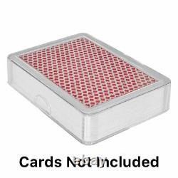 300 BULK Clear Playing Card Deck Protector Coin Storage Box Poker Cases Holder