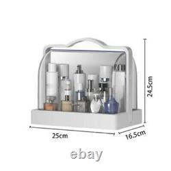 3 Layers Dustproof Jewelry Cosmetic Makeup Brush Storage Box Holder Case Stand