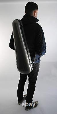BRAND NEW Hard Shell Chrome Violin Case with Storage, Straps and Bow Holder