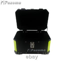 Black Motorcycle Top Case Luggage Trunk Storage Tail Box Holder For Harley BMW