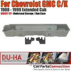 DU-HA 10037 Underseat Storage for 88-99 Chevy GMC C/K Extended Cab Black