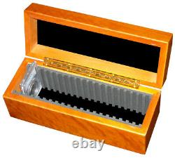 Guardhouse Certified Coins Wood Box Case Storage 20 Graded Slabs PCGS NGC NEW