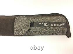 Its George Pool Stick Carrying Case Storage Black Gray Cue Holder Travel