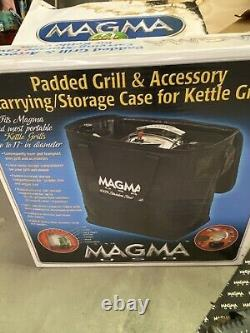 Magma marine kettle stove and grill With Storage Case And Rod Holder Mount
