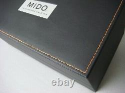 Mido Black Leather 3 Watch Display Case Holder New