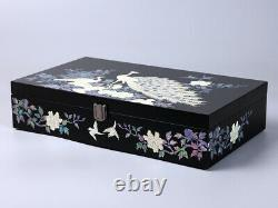 Mother of Pearl Peacock Sunglass Box Eyeglasses Display Storage Show Case Holder