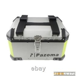 Motorcycle Aluminum Top Case Storage Tail Box Holder Pannier Bag Luggage Trunk