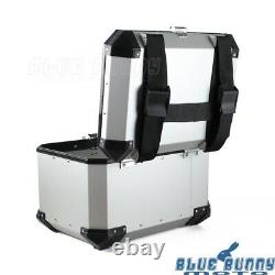 Motorcycle Luggage Trunk Top Lock Case Aluminum Scooter Storage Tail Box Holder