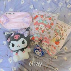 My Melody Kuromi Backpack Pouch Cushion Mascot Pass Holder Storage Case