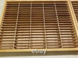 Napa Valley Box Company Wood 100 Cassette Tape Wall Storage Holder Rack Case x 2