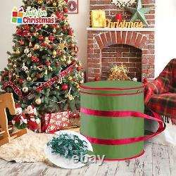 New Oxford Fabric Christmas Decorations Storage Case With 3 Light Holder Cards
