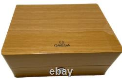 OMEGA Watch Wood Gift Box Case Storage Empty Booklet Card Holder Tag Genuine 04