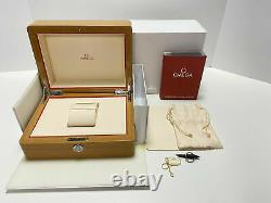 OMEGA Watch Wood Gift Box Case Storage Empty Booklet Card Holder Tag Japan Used