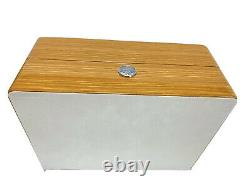 OMEGA Watch Wood Gift Box Case Storage Empty with Booklet Card Holder Genuine