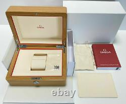 OMEGA Watch Wood Gift Box Case Storage Empty with Booklet Card Holder Links Used