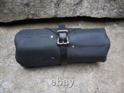 Roll Leather Tool Pouch Pocket Up Organizer Bag Knife Craft Storage Case Holder