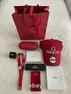Super Rare VIP Genuine OMEGA Watch Travel Case, Pouch, Hat, Pen, Card&Pass Holders
