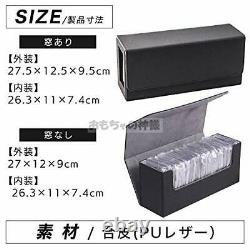 Toy God Large Capacity Deck Case Pu Leather One-Touch Magnet Holder Storage No