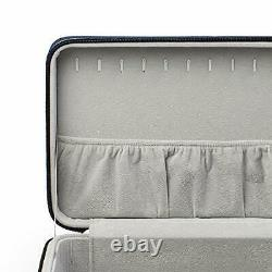 Travel Jewelry Organizer Storage Case Holder for Girl 3 Layers Blue Color