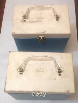 Vintage Capitol 45 RPM Records Carrying Case / Holder / Storage Box Lot Of 2