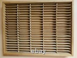Wood Cassette Tape Napa Valley Box Co. Wall Storage Holder Rack Case 100 Slots