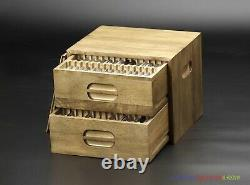 Wooden Storage Box Cabinet Case Handmade for 90PCs NGC PCGS Slab Coin Holder